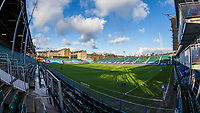 A general view of The Recreation Ground, home of Bath Rugby<br /> <br /> Photographer Bob Bradford/CameraSport<br /> <br /> Heineken Champions Cup Group A - Bath v Scarlets - Saturday 12th December 2020 - The Recreation Ground - Bath<br /> <br /> World Copyright © 2020 CameraSport. All rights reserved. 43 Linden Ave. Countesthorpe. Leicester. England. LE8 5PG - Tel: +44 (0) 116 277 4147 - admin@camerasport.com - www.camerasport.com