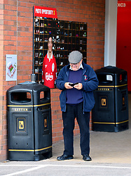 A Liverpool fan outside the ground
