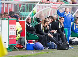 Hibernian's manager Alan Stubbs. <br /> Hibernian 3 v 0 Alloa Athletic, Scottish Championship game played 12/9/2015 at Easter Road.