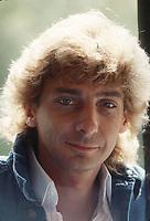 American singer songwriter Barry Manilow seen in London in 1983.