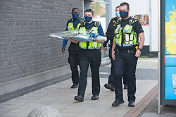 ©Licensed to London News Pictures 28/09/2020  <br /> Croydon, UK.  Flowers for Sgt Matt Ratana at Croydon Custody Centre. The murder investigation continues after the death of police sergeant Matt Ratana at the Croydon Custody Centre in South London last week. Photo credit:Grant Falvey/LNP