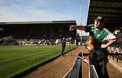 General view of Plymouth Argyle fans before the match - Mandatory byline: Jack Phillips / JMP - 07966386802 - 11/10/2015 - FOOTBALL - Meadow Lane - Nottingham, Nottinghamshire - Notts County v Plymouth Argyle - Sky Bet Championship