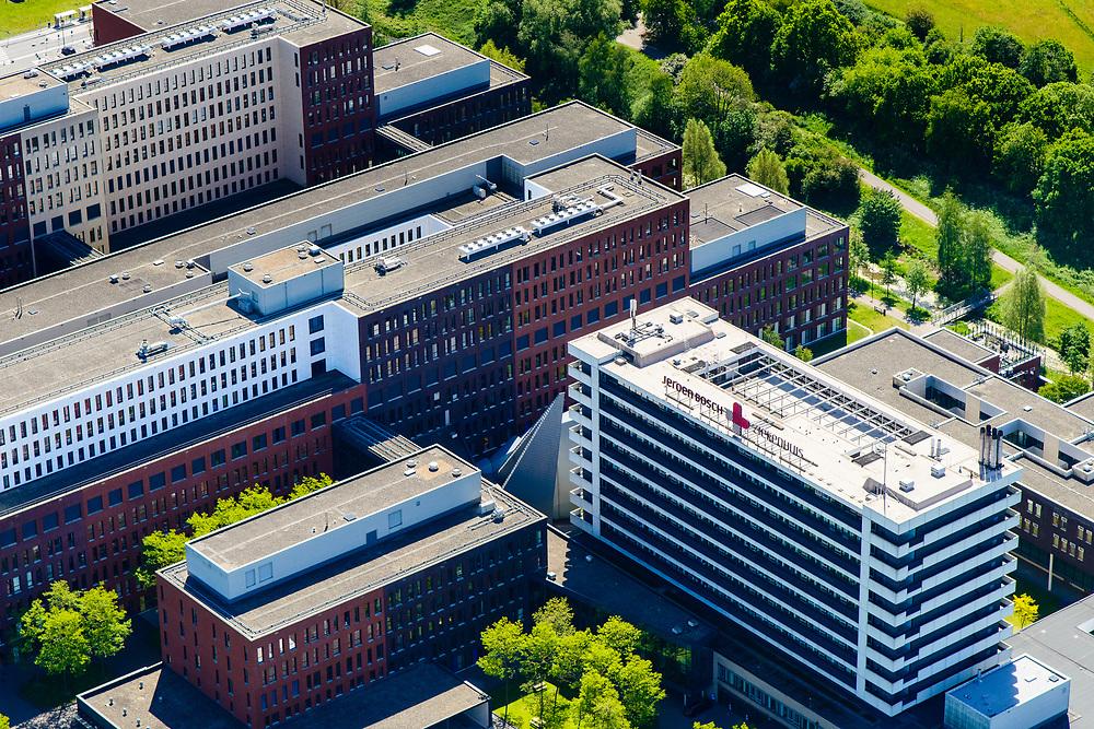 Nederland, Noord-Brabant, Den Bosch, 13-05-2019; Jeroen Bosch ziekenhuis (JBZ),  algemeen ziekenhuis.<br /> Jeroen Bosch hospital (JBZ), general hospital.<br /> luchtfoto (toeslag op standard tarieven);<br /> aerial photo (additional fee required);<br /> copyright foto/photo Siebe Swart