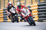 Martin JESSOPP, GBR, Tak Chun Group by PBM DUCATI 1199 PANIGALE<br /> <br /> 65th Macau Grand Prix. 14-18.11.2018.<br /> Suncity Group Macau Motorcycle Grand Prix - 52nd Edition.<br /> Macau Copyright Free Image for editorial use only