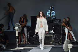 Models on the catwalk during the Ashish Spring/Summer 2019 London Fashion Week show at the BFC show space, London. Picture date: Sunday September 16th, 2018. Photo credit should read: Matt Crossick/ EMPICS Entertainment.