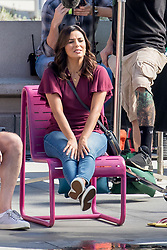 "EXCLUSIVE: Eva Longoria on the set of ""Dog Days"" in Los Angeles, CA. 06 Oct 2017 Pictured: Eva Longoria. Photo credit: MEGA TheMegaAgency.com +1 888 505 6342"