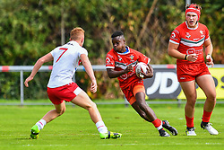 Wales v England<br /> <br /> Photographer Craig Thomas/Replay Images<br /> <br /> Under 16 Rugby league International - Wales  v England  - Saturday 1st August 2018 - Stebonheath Park - Llanelli<br /> <br /> World Copyright © 2017 Replay Images. All rights reserved. info@replayimages.co.uk - www.replayimages.co.uk