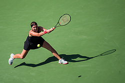 August 28, 2018 - Flushing Meadow, NY, U.S. - FLUSHING MEADOW, NY - AUGUST 28: JELENA OSTAPENKO (LAT) day two of the 2018 US Open on August 20, 2018, at Billie Jean King National Tennis Center in Flushing Meadow, NY. (Photo by Chaz Niell/Icon Sportswire) (Credit Image: © Chaz Niell/Icon SMI via ZUMA Press)