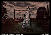Tilted Monuments<br /> Laurel Hill Cemetery - Philadelphia<br /> July 2014