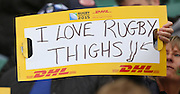 Rugby fan with a sense of humour during the Rugby World Cup Quarter Final match between South Africa and Wales at Twickenham, Richmond, United Kingdom on 17 October 2015. Photo by Matthew Redman.