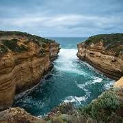 Loch Ard Gorge near the Great Ocean Road and wild seas