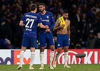 Football - 2018 / 2019 Europa League - Group L: Chelsea vs. FC BATE Borisov<br /> <br /> Andreas Christensen (Chelsea FC) hands Ruben Loftus Cheek (Chelsea FC)  the match ball after his hat trick performance at Stamford Bridge.<br /> <br /> COLORSPORT/DANIEL BEARHAM