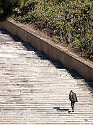 Steps leading to Chiesa Dell'ara Coeli, Rome, Italy