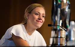 October 20, 2018 - Kallang, SINGAPORE - Angelique Kerber of Germany talks to the media during the All Access Hour of the 2018 WTA Finals tennis tournament (Credit Image: © AFP7 via ZUMA Wire)