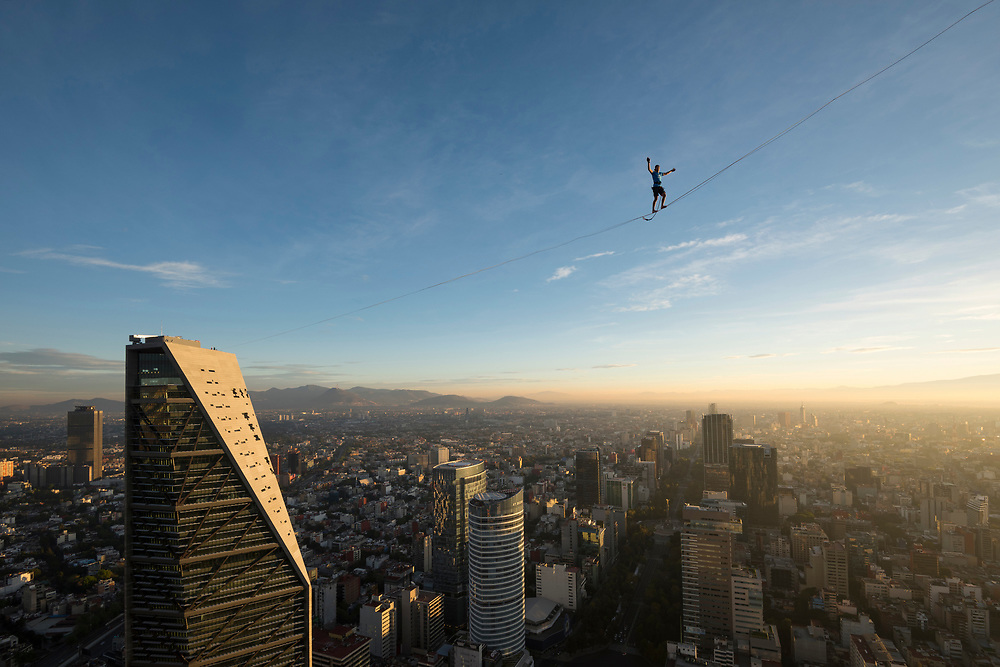 Highline Reforma with Alex Schultz. <br /> Client/Project: Altius/Highline Reforma World Record