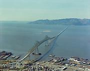 ackroyd-C02116-3 Port of Astoria and new bridge. April 19, 1966