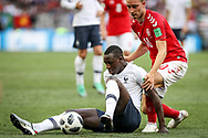 Benjamin MENDY of France, Christian ERIKSEN of Denmark during the 2018 FIFA World Cup Russia, Group C football match between Denmark and France on June 26, 2018 at Luzhniki Stadium in Moscow, Russia - Photo Thiago Bernardes / FramePhoto / ProSportsImages / DPPI