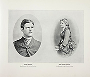 """Mr. and Mrs. Jesse Grant Youngest son of General Grant from The American Civil War book and Grant album : """"art immortelles"""" : a portfolio of half-tone reproductions from rare and costly photographs designed to perpetuate the memory of General Ulysses S. Grant, depicting scenes and incidents in connection with the Civil War Published  in Boston and New York by W. H. Allen in 1894"""