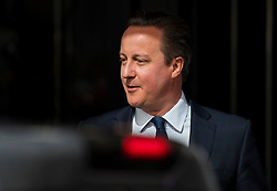 © Licensed to London News Pictures. 09/04/2016. London, UK.  DAVID CAMERON leaves the Conservative Party Spring Forum in central London.  Conservative party leader and British prime minster David Cameron has come under pressure after it was revealed that he had  investment in an offshore fund.  Photo credit: Ben Cawthra/LNP