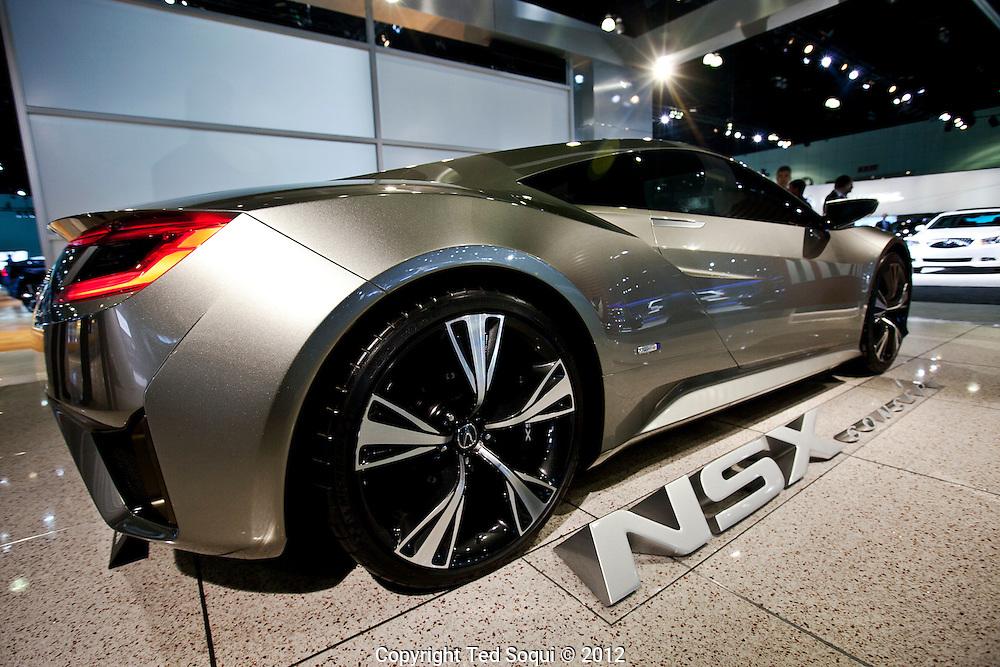 LA Auto Show press preview at the LA Convention Center..NSX Concept by Acura.