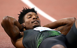 May 31, 2018 - Rome, Italy - Fred Kerley (USA) after competing in 400m men during Golden Gala Iaaf Diamond League Rome 2018 at Olimpico Stadium in Rome, Italy on May 31, 2018. (Credit Image: © Matteo Ciambelli/NurPhoto via ZUMA Press)