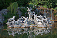 The Diana and Actaeon Fountain at the feet of the Grand Cascade. The Kings of Naples Royal Palace of Caserta, Italy. A UNESCO World Heritage Site .<br /> <br /> Visit our ITALY HISTORIC PLACES PHOTO COLLECTION for more   photos of Italy to download or buy as prints https://funkystock.photoshelter.com/gallery-collection/2b-Pictures-Images-of-Italy-Photos-of-Italian-Historic-Landmark-Sites/C0000qxA2zGFjd_k<br /> <br /> <br /> Visit our EARLY MODERN ERA HISTORICAL PLACES PHOTO COLLECTIONS for more photos to buy as wall art prints https://funkystock.photoshelter.com/gallery-collection/Modern-Era-Historic-Places-Art-Artefact-Antiquities-Picture-Images-of/C00002pOjgcLacqI