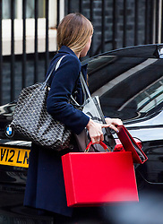 © Licensed to London News Pictures. 23/11/2016. London, UK. A red government box belonging to Chancellor PHILIP HAMMOND leaves 10 Downing Street in London to delivers his first Autumn statement to parliament. Photo credit: Ben Cawthra/LNP