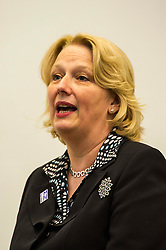 Pictured: Jayne-Anne Gadhia<br /> Professor Mona Siddiqui, chair of the Scotland Stronger in Europe Advisory Group, Jayne-Anne Gadhia, CEO of Virgin Money, and campaign spokesman John Edward joined others to provide a Scotland Stonger in Europe briefing in Edinburgh today. <br /> <br /> Ger Harley | EEm 10 May April 2016