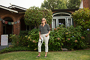 Jennifer Fearing poses for a portrait at her home in Sacramento, Calif. on Monday, August 24, 2020. <br />CREDIT: Salgu Wissmath for The Wall Street Journal<br />Slug:  CALEG