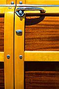 Door Panel Of A Classic Woodie Car