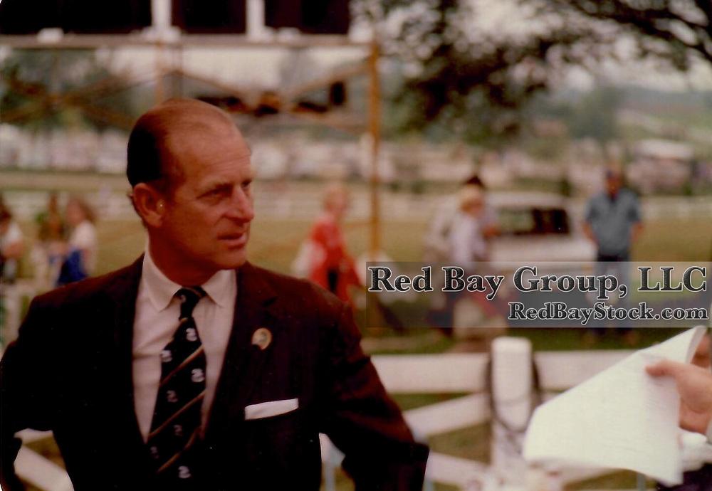 Prince Philip, Duke of Edinburgh at the 1978 World 3-Day Event Championships at the Kentucky Horse Park, Lexington, Kentucky.