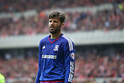Middlesbrough goalkeeper Dimitrios Konstantopoulos (1)  during the Sky Bet Championship match between Middlesbrough and Brighton and Hove Albion at the Riverside Stadium, Middlesbrough, England on 7 May 2016. Photo by Simon Davies.