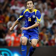 Kazakhstan's Marat SHAKHMETOV during their UEFA EURO 2012 Qualifying round Group A soccer match Turkey betwen Kazakhstan at TT Arena Istanbul September 02, 2011. Photo by TURKPIX