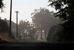 CZECH REPUBLIC VYSOCINA NEDVEZI 20AUG15 - View along the main road through the village of Nedvezi, Vysocina, Czech Republic. <br /> <br /> <br /> <br /> jre/Photo by Jiri Rezac<br /> <br /> <br /> <br /> © Jiri Rezac 2015
