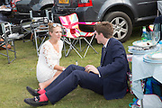 LAURA ANDREWS; ALEX WALKER, Glorious Goodwood. Thursday.  Sussex. 3 August 2013