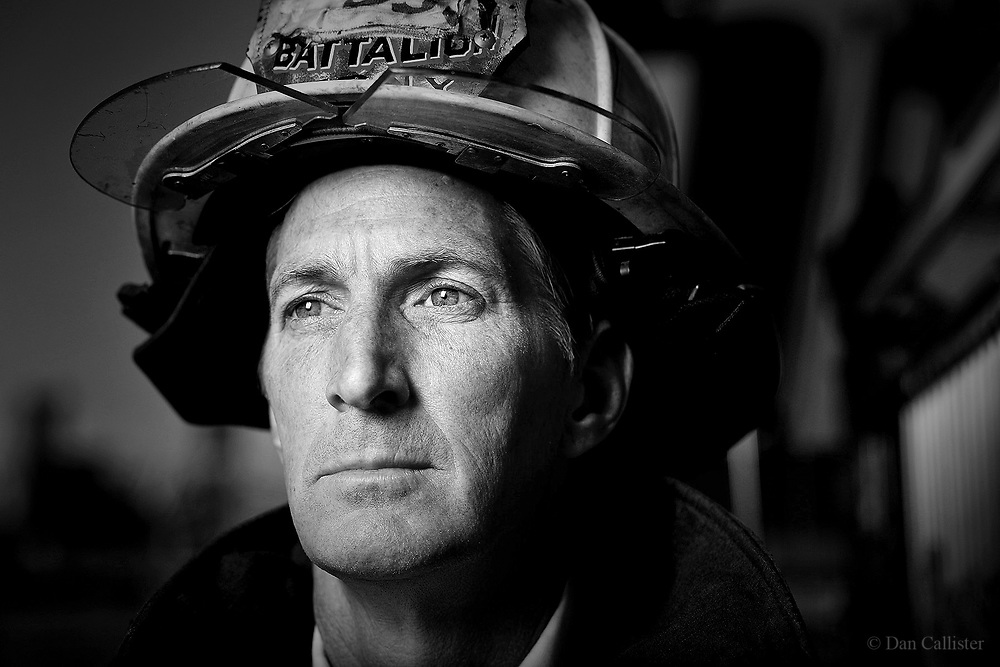 FDNY Battalion Chief Steve Sullivan by photographer Dan Callister