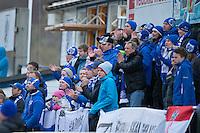 1. divisjon fotball 2014: Hødd - Tromsdalen.  Hødds supportere i 1. divisjonskampen mellom Hødd og Tromsdalen på Høddvoll.