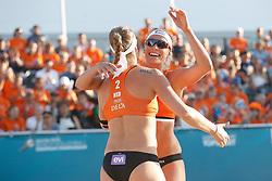 20180717 NED: CEV DELA Beach Volleyball European Championship day 3<br />Sanne Keizer (1), Madelein Meppelink (2) of The Netherlands <br />©2018-FotoHoogendoorn.nl