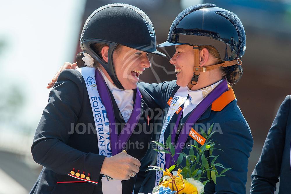 Silver medalist Natasha Baker (GBR) & Gold medalist Rixt van der Horst (NED) - Para Dressage Individual - FEI World Equestrian Games™ Tryon 2018 - Tryon, North Carolina, USA - 19 September 2018