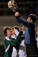 Olmsted Falls vs. Strongsville boys varsity soccer on October 31, 2015. © David Richard and may not be copied, posted, published or printed without permission.<br /> @DavidRichardPix