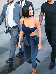 Kim Kardashian is seen arriving at 'Jimmy Kimmel Live' in Los Angeles, California. NON-EXCLUSIVE July 30, 2018. 30 Jul 2018 Pictured: Kim Kardashian. Photo credit: BG017/Bauergriffin.com/MEGA TheMegaAgency.com +1 888 505 6342