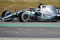 February 18, 2019 - Pamplona, Spain - Valtteri Bottas (Mercedes AMG Petronas Motosport) seen in action during the winter test days at the Circuit de Catalunya in Montmelo  (Credit Image: © Fernando Pidal/SOPA Images via ZUMA Wire)