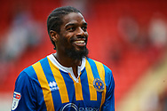 Shrewsbury Town midfielder Anthony Grant (42) after the EFL Sky Bet League 1 match between Charlton Athletic and Shrewsbury Town at The Valley, London, England on 11 August 2018.