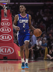 October 21, 2018 - Los Angeles, California, U.S - Shai Gilgeous-Alexander #2 of the Los Angeles Clippers during their NBA game with the Houston Rockets on Sunday October 21, 2018 at the Staples Center in Los Angeles, California. (Credit Image: © Prensa Internacional via ZUMA Wire)