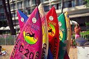 Surfboards, Waikiki, oahu, Hawaii<br />