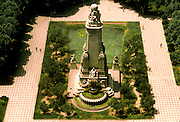 SPAIN, MADRID, MONUMENTS Plaza de Espana with the famous Cervantes Monument in the heart of the city