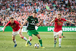 (L-R) Guus Til of AZ, Robin van Persie of Feyenoord, Fredrik Midtsjo of AZ during the Dutch Toto KNVB Cup Final match between AZ Alkmaar and Feyenoord on April 22, 2018 at the Kuip stadium in Rotterdam, The Netherlands.