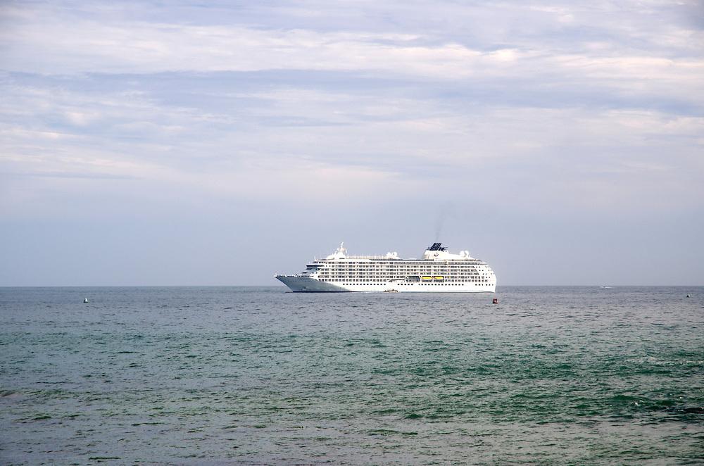 A cruise ship near Galle Fort, Sri Lanka