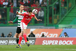 February 3, 2019 - Lisbon, Portugal - Benfica's Portuguese defender Ruben Dias vies with Sporting's forward Bas Dost from Holland during the Portuguese League football match Sporting CP vs SL Benfica at Alvalade stadium in Lisbon, Portugal on February 3, 2019. (Credit Image: © Pedro Fiuza/ZUMA Wire)