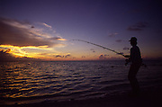 Fishing at sunset<br />